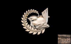 Georg Jensen Sterling Silver Bird Brooch. No 309.