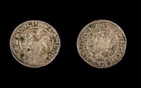 Bohemia Silver Hammered Coin of Charles IV ( 1346 - 1378 ) Prague Groschem.