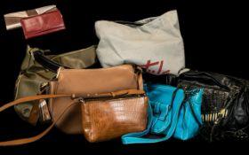 7 Designer Handbags & Designer Purse to include Dents, Tula, All Saints, Francesco Biasia,
