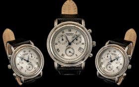 Vintage Krug-Bailment Principle Gent's Watch. Circa 1996, with a black leather strap.