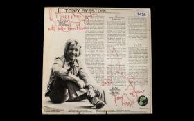 Tony Weston Rare First Edition LP Sleeve