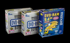 Maxwell DVD -Ram Double Sided Discs 240