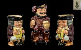 Royal Doulton Trio of Hand Painted Toby