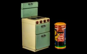 Chad Valley Tin Plate Toy Oven in origin