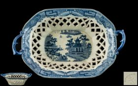 Davenport - Blue and White Pearl ware Ch