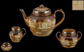 Doulton Lambeth Brown Glazed Stoneware a