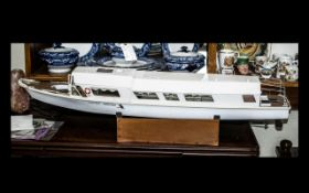Model Cruiser Boat Marked Norfolk Marine