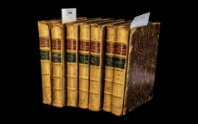 Set of ( 7 ) Leather Bound Books Titled