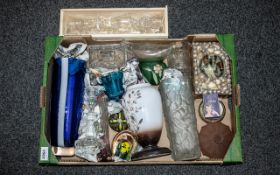 A Collection of Assorted Glass Ware to i
