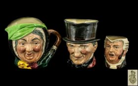 Royal Doulton Trio of Hand Painted Chara