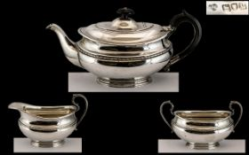 Goldsmiths and Silversmiths Co of London - Superb Quality 3 Piece Sterling Silver Tea Service,