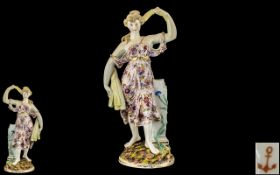 Samson Porcelain Figure of a Girl Holding Wheat,
