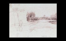 Harold Riley Print of Belfry Sketch,