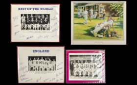 Cricket Interest - John Haysom Print 'Cometh the Hour' depicting a cricket match,