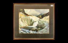 Heaton Cooper Framed Print of Cumberland Esk framed and glazed. Overall size 24 x 27 inches.