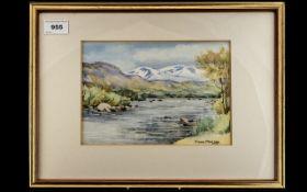 Flora Mcleod Original Painting (born Morayshire 1907 tutored by Wycliffe Egginton + Jack Merriott).