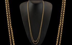 Victorian Period Superb Quality 9ct Rose Gold Muff Chain ( Belcher Design ) with Excellent Clasp.
