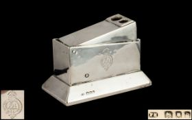 George V - Railway or Liner ( Ship ) See Crest - Sterling Silver Table Cigar Cutter,