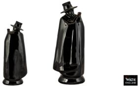 Wade Ceramic Figural Sandeman Port Lidded Decanter. Made Between 1958 - 1960.
