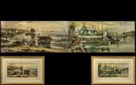 A Pair of Water coloured Drawings by J. Hughes Clayton.