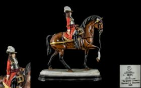 Michael Sutty - Signed Ltd Edition Porcelain Figure ' The Queens Consort's ' Regiment of Dragoons