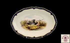 Royal Worcester Vitreous Hand Painted Ov