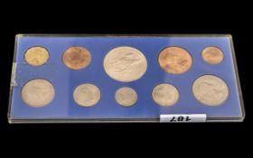 1953 Coin Set In Perspex Presentation Ca