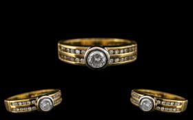 18ct Two Tone Gold Attractive Diamond Se