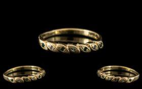 9ct Gold Diamond and Emerald Set Dress R
