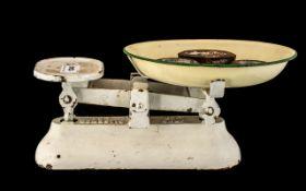 Set of Vintage Metal Domestic Scales wit