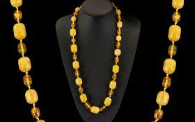 Amber Coloured Beads. Colour of Egg Yolk