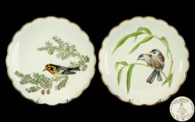 Royal Worcester Hand Painted Pair of Dor