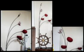 A Contemporary Designer Standard Lamp wi