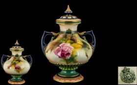 Royal Worcester - Hadley Hand Painted Tw