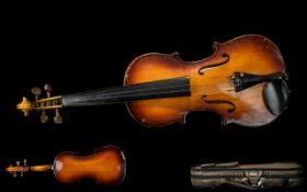 Violin In Canvas Case and Bow. Please Se