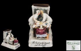 German Antique Porcelain Faring ' The La