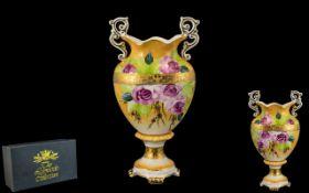 Noritake Type Vase, Boxed, Decorated wit