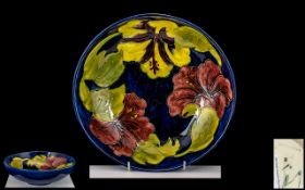 Moorcroft Tube lined Footed Bowl of Larg