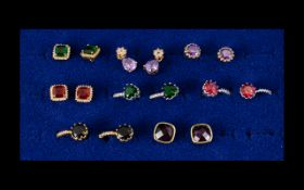 Collection of 14k Gold Plated Earrings (