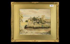 Original Watercolour of Cartmel Priory,