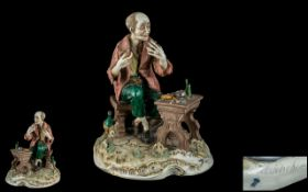 Capodimonte Signed and Early Hand Painte