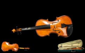 Antoni Violin and Bow In Fitted Case. Pl