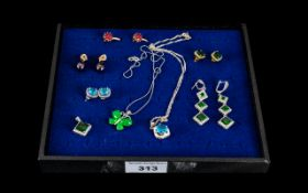 Collection of Gold Plated Earrings ( for