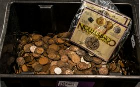 Large Collection of Coins, a huge quantity dating back to the early 1900s; several hundred coins, in