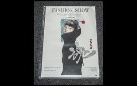 Nottingham Trent University/ Bunka Women's University Tokyo Fashion Show Poster 1997; a fashion show
