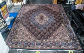 A Genuine Excellent Quality Iranian Carpet/Rug decorated in a bespoke floral design on a beige