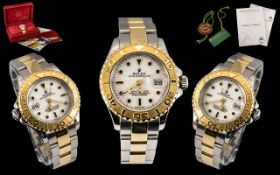 Rolex - Ladies Yacht Master Gold and Steel Oyster Perpetual Date - Superlative Chronometer Wrist