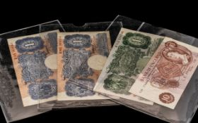 Small Collection of English Banknotes comprising three £1 notes and one 10 shilling note (4)
