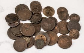 Collection of Georgian and Early Victorian Coins, a good selection of Georgian pennies and Victorian