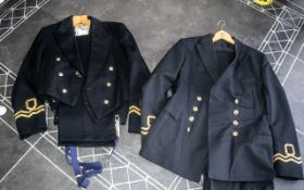 Two Naval Reserve Dress Suits to include blazer and trousers.